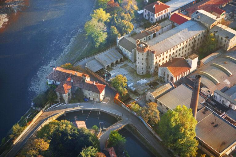 Casa del Custode delle Acque e Cotonificio Velvis - veduta dall'alto