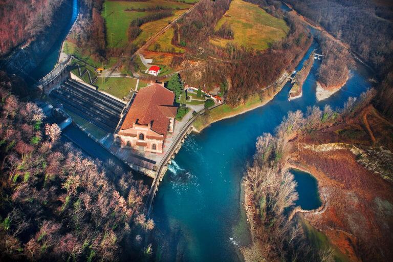Vista dall'alto della Centrale idroelettrica Esterle