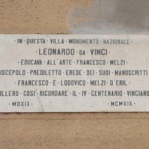 Villa Melzi targa